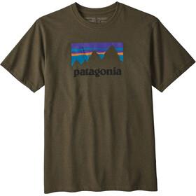 Patagonia Shop Sticker Camiseta Responsable Hombre, sediment